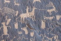 印第安刻在岩石上的文字 免版税库存照片