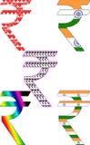 印第安卢比符号 图库摄影