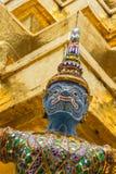 蓝色巨人在Wat Phra Keaw 免版税图库摄影