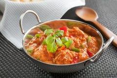 印第安咖喱鸡Jalfrezi 免版税库存照片