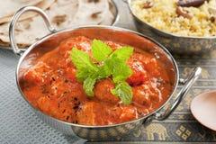 印第安咖喱鸡Tikka Masala 免版税库存照片