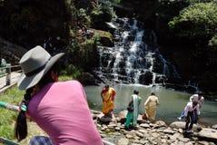 印第安地点游人 免版税库存图片
