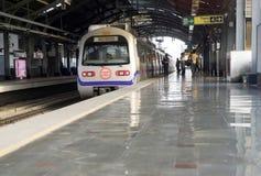印第安地铁现代岗位 免版税库存图片