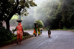印第安场面村庄 库存照片