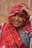 印第安夫人 拉贾斯坦,印度 免版税库存图片