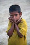 印第安女孩纵向  库存图片