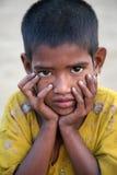印第安女孩纵向  免版税库存照片