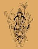 印第安女神durga 免版税库存照片