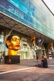 印第安妇女的题头雕塑 免版税库存图片