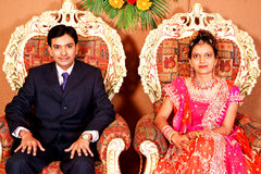 印第安婚姻接收 免版税库存图片