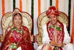 印第安婚姻接收 免版税库存照片