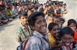 印第安学校村庄 图库摄影
