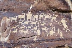印第安岩石艺术 库存照片