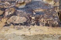 印第安岩石艺术 免版税库存图片