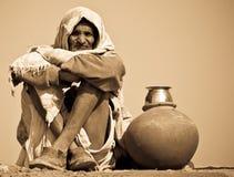 印第安工作员 免版税库存照片