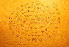 印第安文字 库存照片