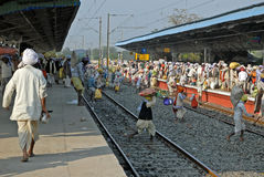 印第安旅途铁路运输 免版税库存照片