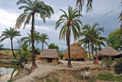印第安村庄 免版税库存照片
