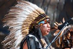 印第安歌唱家 免版税库存照片