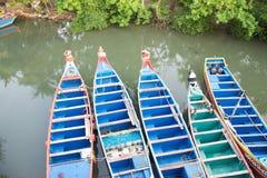 印第安渔船 图库摄影