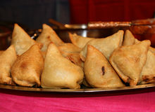 印第安食物/Samosa 库存图片