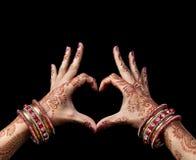 印第安爱 免版税库存照片