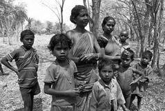 印第安生活村庄 库存图片