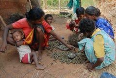印第安生活村庄 免版税图库摄影