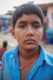 印第安男孩 库存图片