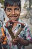 印第安男孩 免版税库存图片