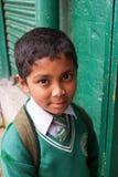 印第安男小学生统一 图库摄影