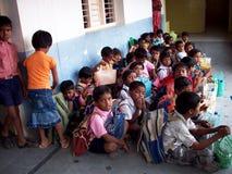 印第安男小学生 免版税库存图片