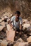印第安石艺术家 库存照片