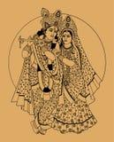印第安神 库存照片