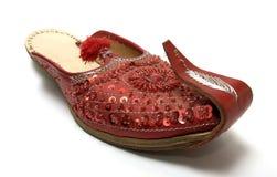 印第安红色凉鞋 库存照片