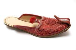 印第安红色凉鞋 图库摄影
