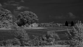 印第安纳农场红外线 免版税库存图片