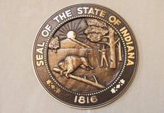 印第安纳州的封印 库存图片