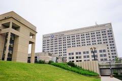 印第安纳政府中心 免版税图库摄影