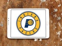 印第安纳步行者队美国蓝球队商标 库存照片
