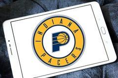 印第安纳步行者队美国蓝球队商标 库存图片
