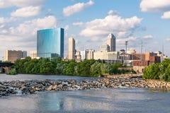 印第安纳波利斯市地平线 免版税库存照片