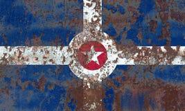 印第安纳波利斯市烟旗子,印第安纳状态,上午美国  免版税库存照片