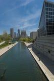 印第安纳波利斯运河 免版税库存照片