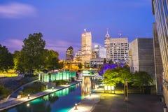 印第安纳波利斯,印第安纳,美国09 13 17,美丽的indiannapolis skyli 库存照片
