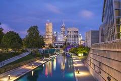 印第安纳波利斯,印第安纳,美国09 13 17,美丽的indiannapolis skyli 免版税图库摄影