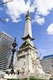 印第安纳波利斯,印第安纳-著名圣徒和水手纪念碑 免版税库存照片