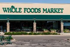 印第安纳波利斯-大约2018年5月:整个食物市场 亚马逊宣布了协议买$13的整个食物 70亿III 免版税库存照片