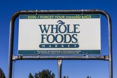 印第安纳波利斯-大约2017年9月:整个食物市场 亚马逊宣布了协议买$13的整个食物 70亿IX 图库摄影