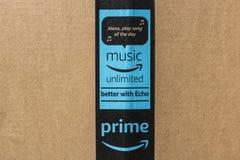 印第安纳波利斯-大约2017年5月:亚马逊最初小包包裹 改良 com是一个首要的网上零售商VII 库存图片